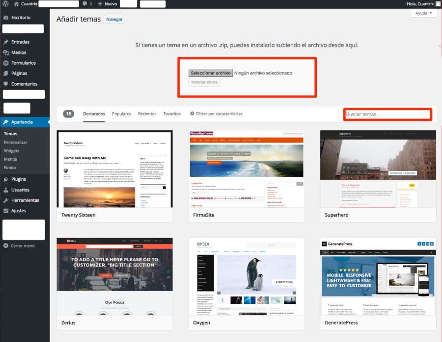 Qué son los temas de WordPress? - Cuantrix